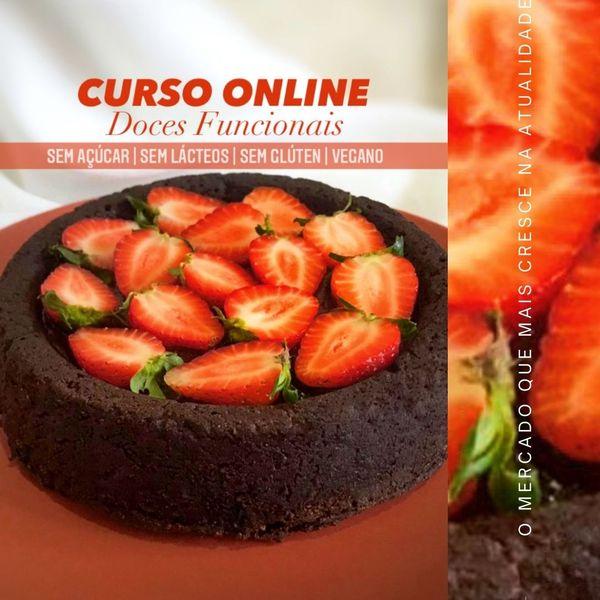 Imagem principal do produto CURSO   DOCES FUNCIONAIS - sem açúcar; sem lactose; sem glúten; vegano