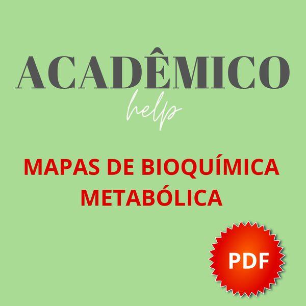 Imagem principal do produto Mapas de bioquímica metabólica
