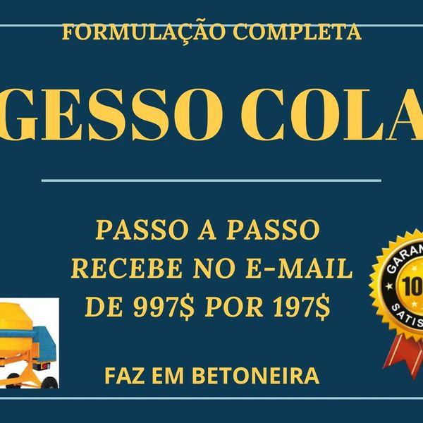 Imagem principal do produto GESSO COLA FORMULAÇÃO
