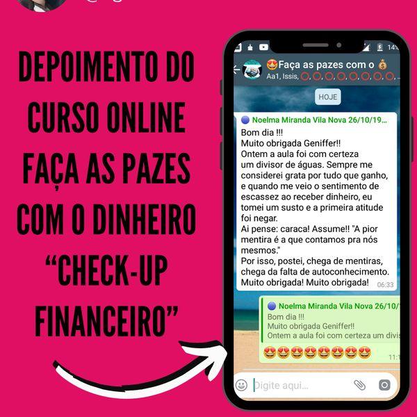 """Imagem principal do produto FAÇA AS PAZES COM O DINHEIRO """"check-up financeiro"""""""
