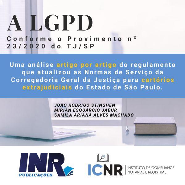 Imagem principal do produto A LGPD Segundo o provimento nº 23/2020 do TJ/SP