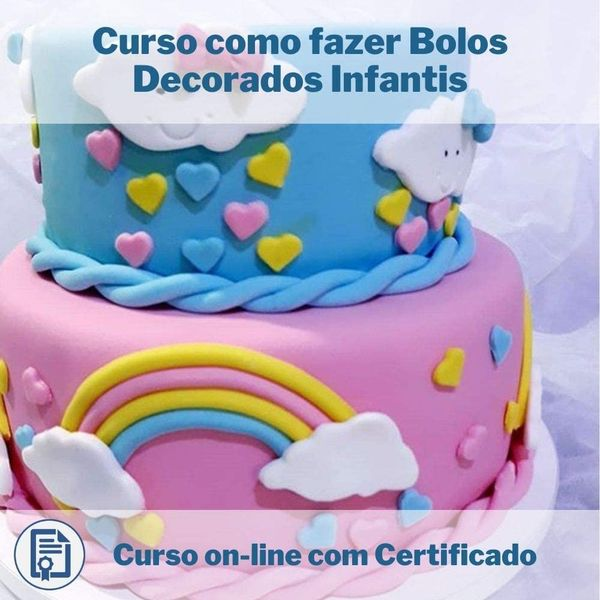 Imagem principal do produto Curso como fazer Bolos Decorados Infantis