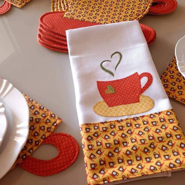 Imagem principal do produto Patchapliquê Cafézinho - Projeto