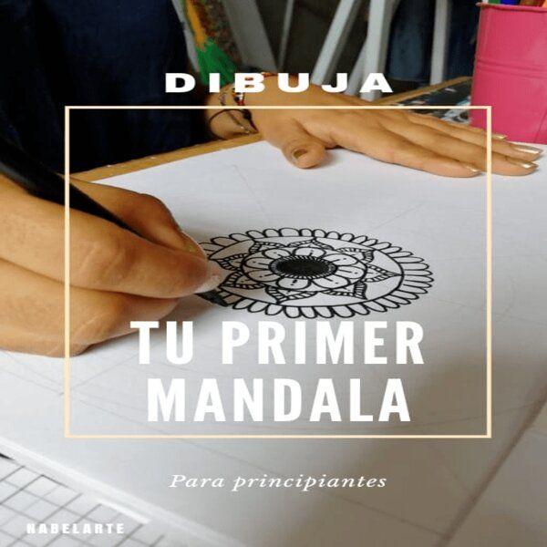 Imagem principal do produto Dibuja tu primer mandala. Paso a paso