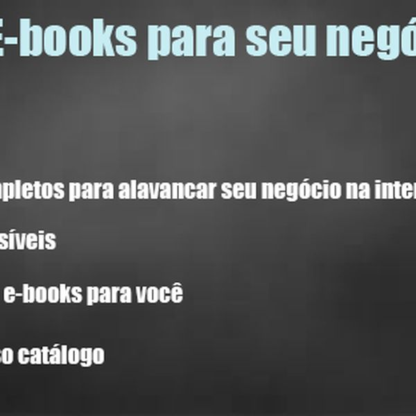Imagem principal do produto E-books para seu negócio digital