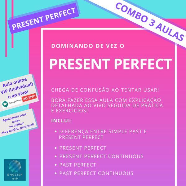 Imagem principal do produto Dominando de vez o Present Perfect (Minicurso 3 aulas individuais e ao vivo)