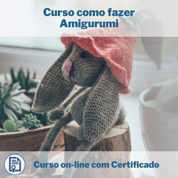 Imagem principal do produto Curso como fazer Amigurumi