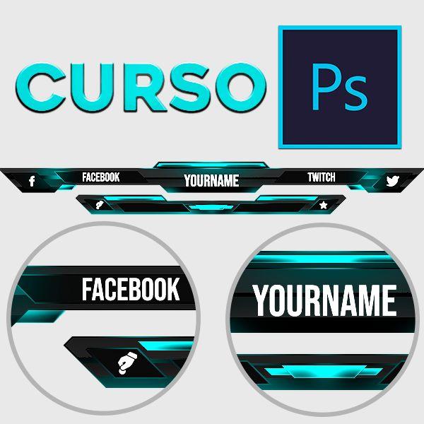 Imagem principal do produto Photoshop para streamers curso de overlay
