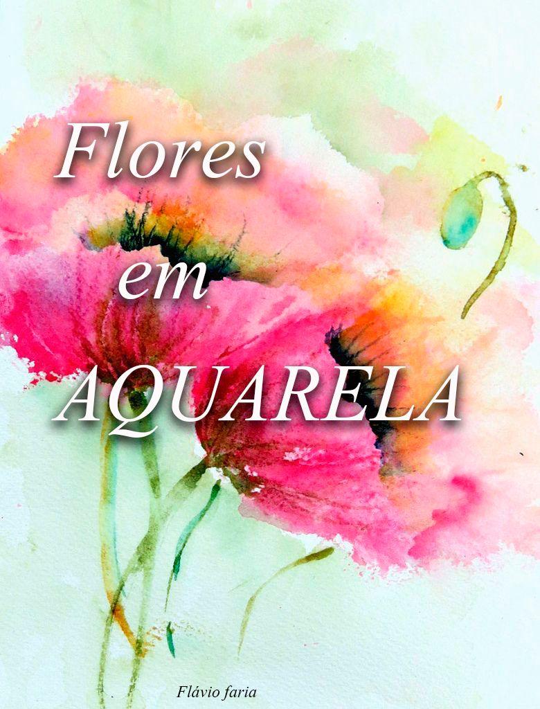 flores em aquarela
