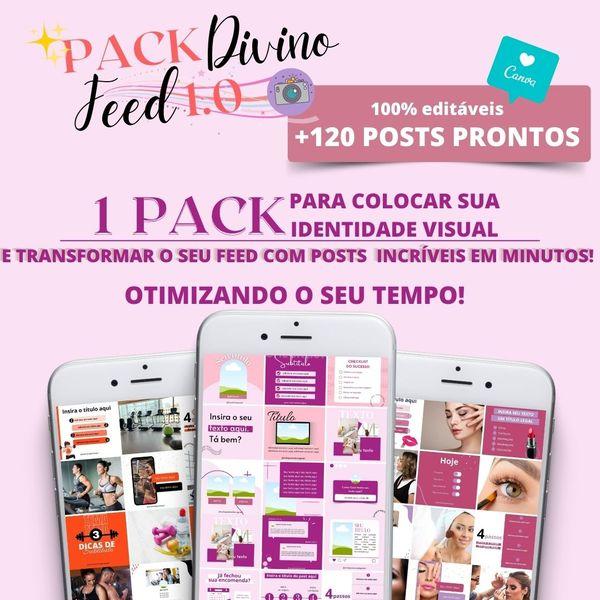 Imagem principal do produto Canva Pack Divino Feed