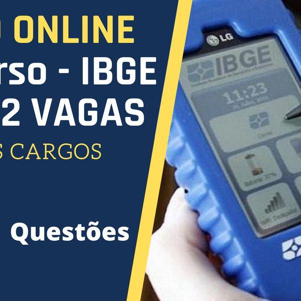 Imagem principal do produto CURSO ONLINE APROVAÇÃO IBGE