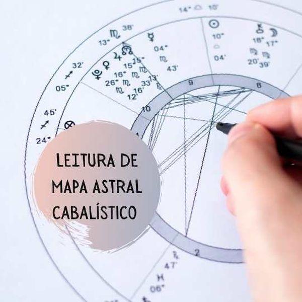 Imagem principal do produto Leitura de Mapa Astral Cabalístico