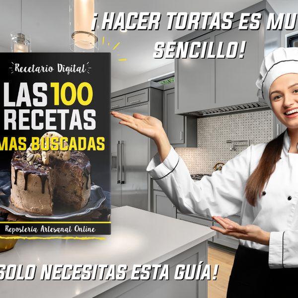 """Imagem principal do produto """"Las 100 Recetas Más Buscadas"""" Recetario Digital de Reposteria"""