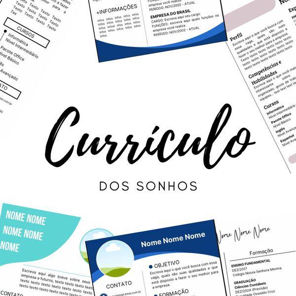 Imagem principal do produto Currículo dos SONHOS
