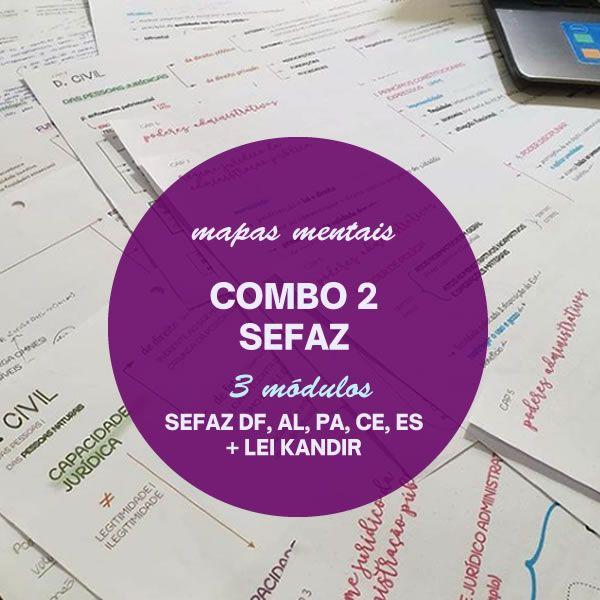 Imagem principal do produto COMBO 2 - MAPAS MENTAIS SEFAZ 34% off