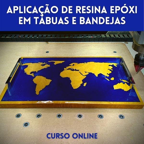 Imagem principal do produto Aplicação de Resina Epóxi em Tábuas e Bandejas