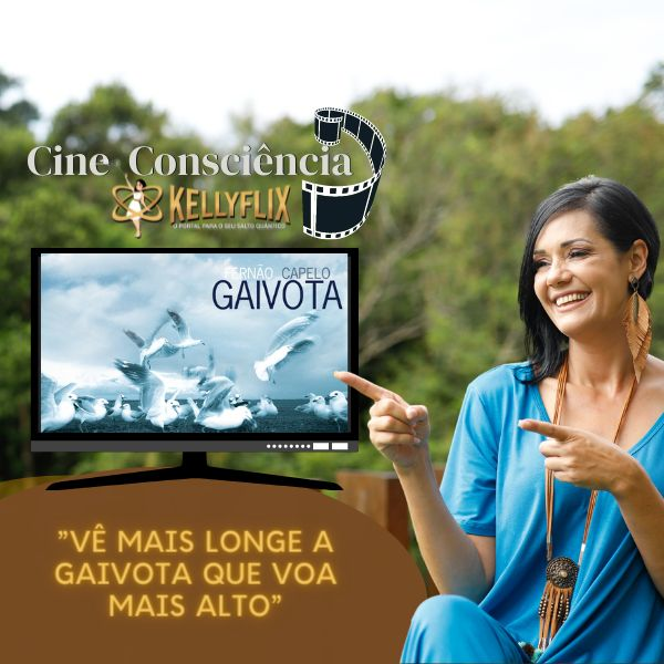 """Imagem principal do produto """"Fernão Capelo Gaivota""""   Cine Consciência, Kellyflix"""