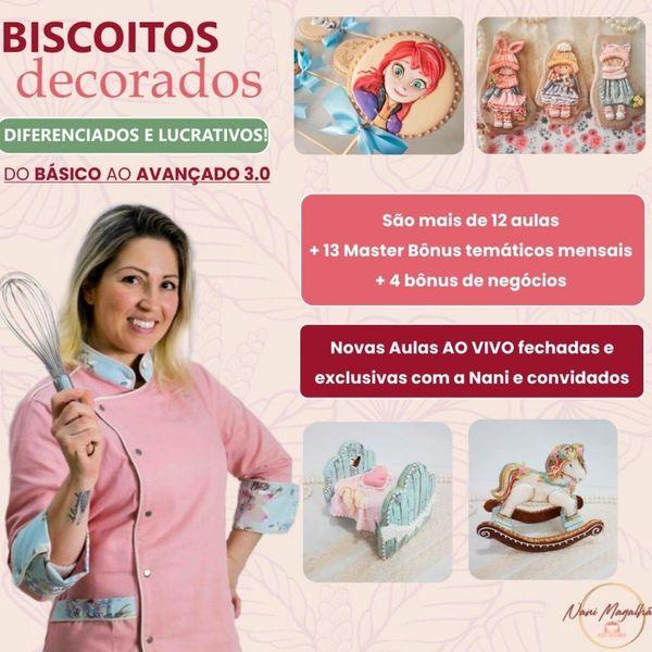 Imagem principal do produto Curso Online Biscoitos Decorados - Do Básico ao Avançado 3.0