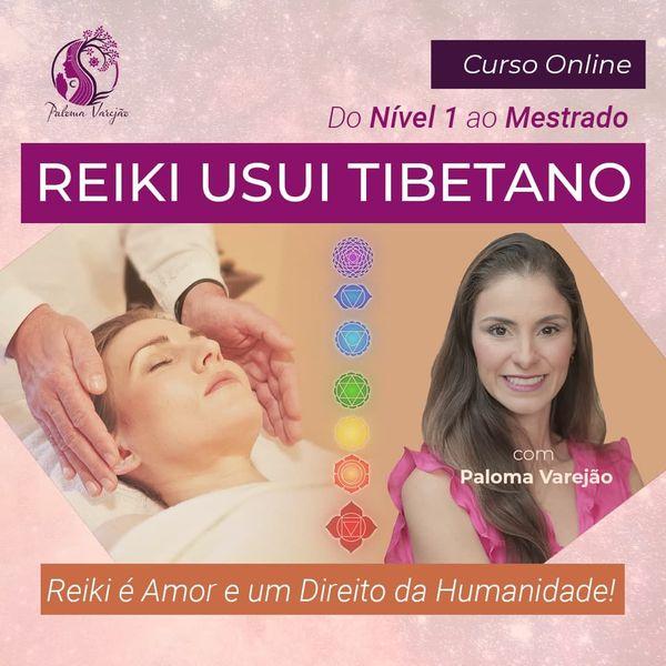 Imagem principal do produto Curso Reiki Usui Tibetano COMPLETO - do Nível 1 ao Mestrado _ Mestra Paloma Varejão