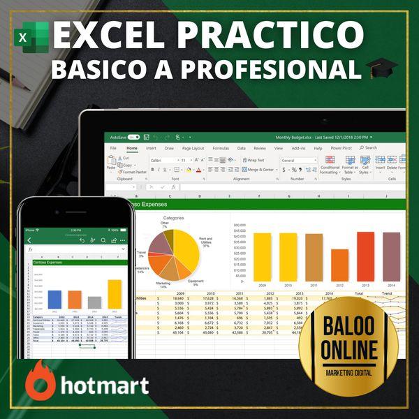 Imagem principal do produto ✅ EXCEL PRACTICO   BASICO A PROFESIONAL
