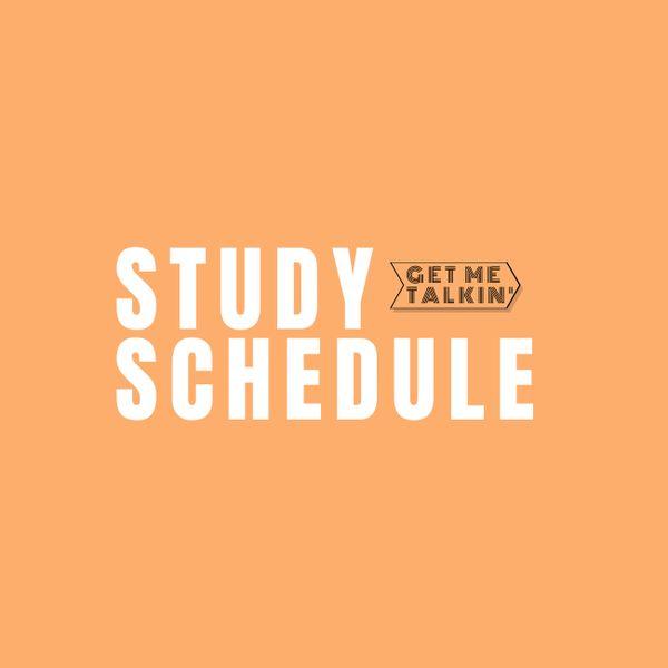 Imagem principal do produto Get Me Talkin' - Study Schedule