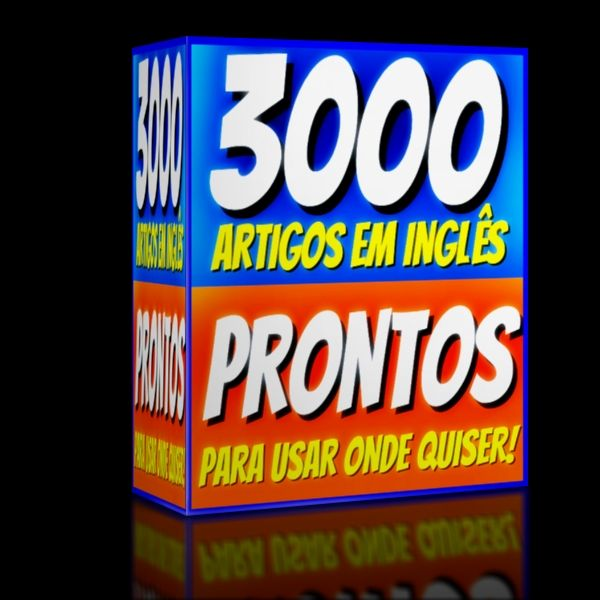 Imagem principal do produto 3000 ARTIGOS EM INGLÊS PRONTOS para usar onde quiser!