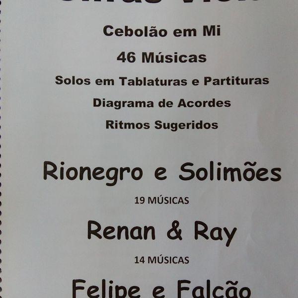Imagem principal do produto Cifras e Solos para Viola Caipira Rionegro Solimões, Renan Ray, Felipe Falcão