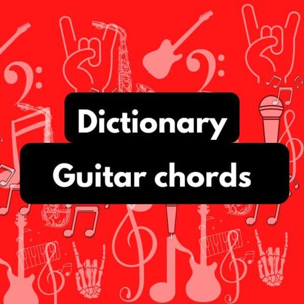 Imagem principal do produto Dictionary, guitar chords