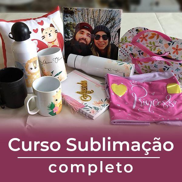 Imagem principal do produto CURSO DE SUBLIMAÇÃO E AGENDAS - COMPLETO