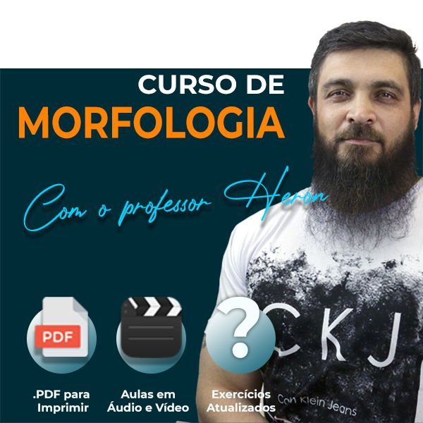 Imagem principal do produto Curso de Morfologia | Professor Heron Domingues
