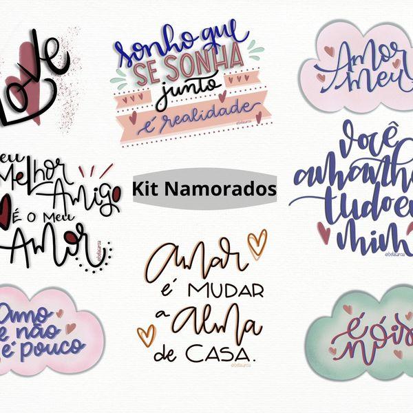 Imagem principal do produto Kit 8 artes Dia dos Namorados