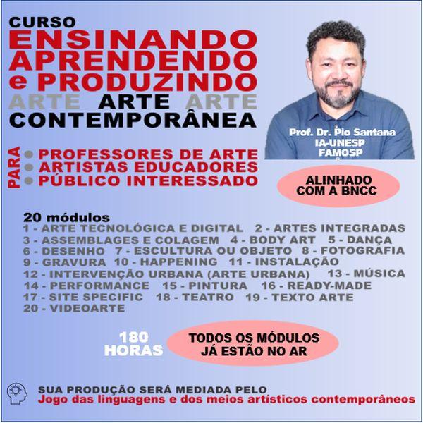Imagem principal do produto ENSINANDO, APRENDENDO E PRODUZINDO ARTE CONTEMPORÂNEA.