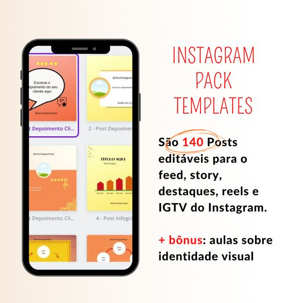 Imagem principal do produto Instagram Pack Templates
