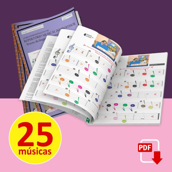 Imagem principal do produto Livro Infantil com Partituras Musicais - Linguagem Universal - Frère Jacques