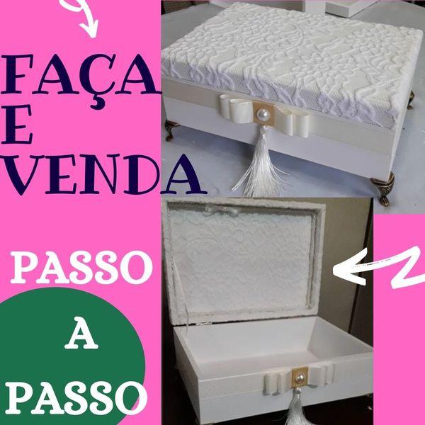 Imagem principal do produto como pintar caixa de  mdf -aula de artesanato -  MADRINHA DE CASAMENTO