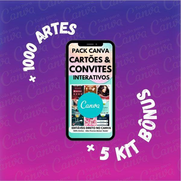 Imagem principal do produto Cartões & Convites Interativos - Artes Para Canva +1000Artes+5KitsBônus