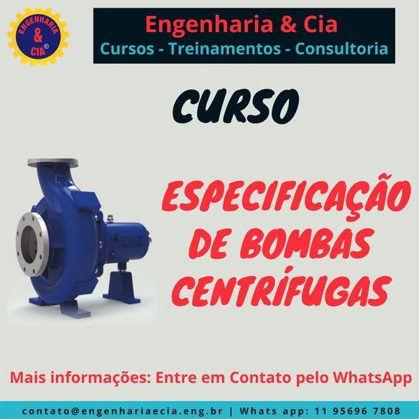 Imagem principal do produto Especificação de Bombas Centrífugas