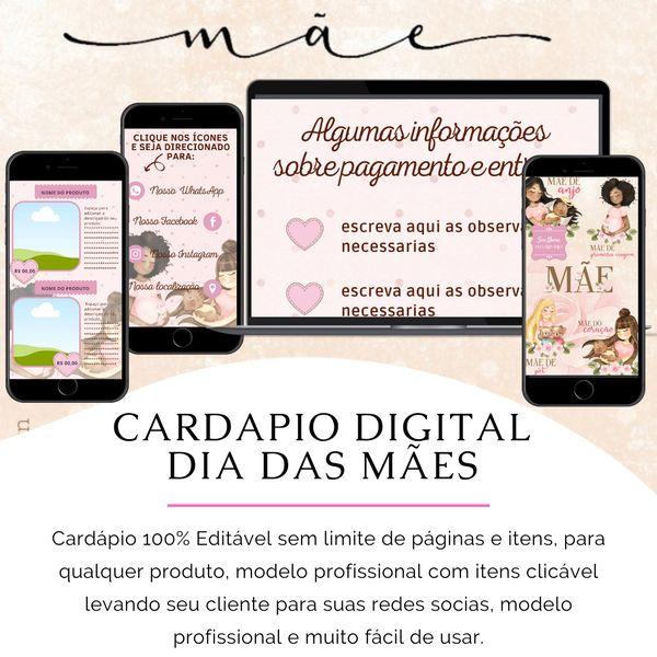 Imagem principal do produto Cardápio Digital 100% Editavel Dia das Maes