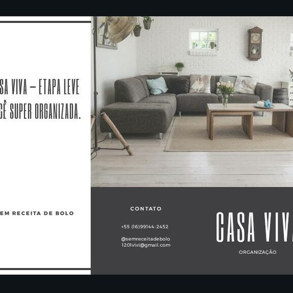 Imagem principal do produto Mentoria Casa Viva - Etapa Leve