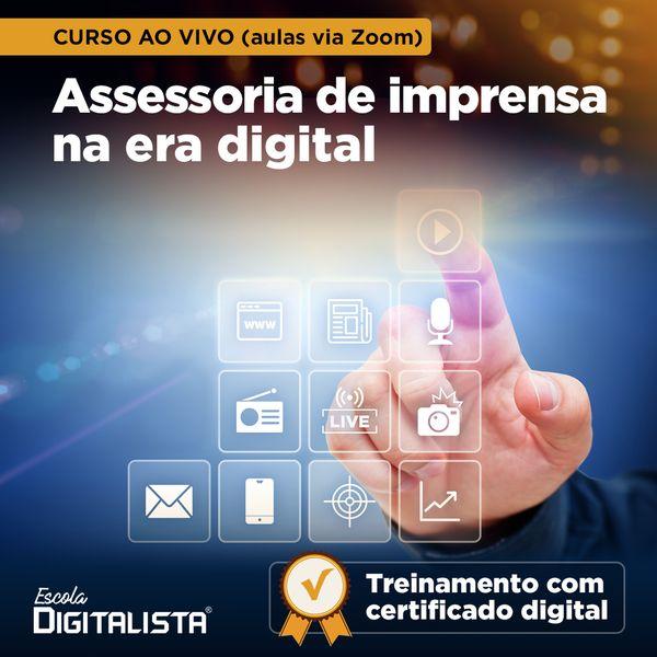 Imagem principal do produto Curso ao vivo Assessoria de imprensa na era digital