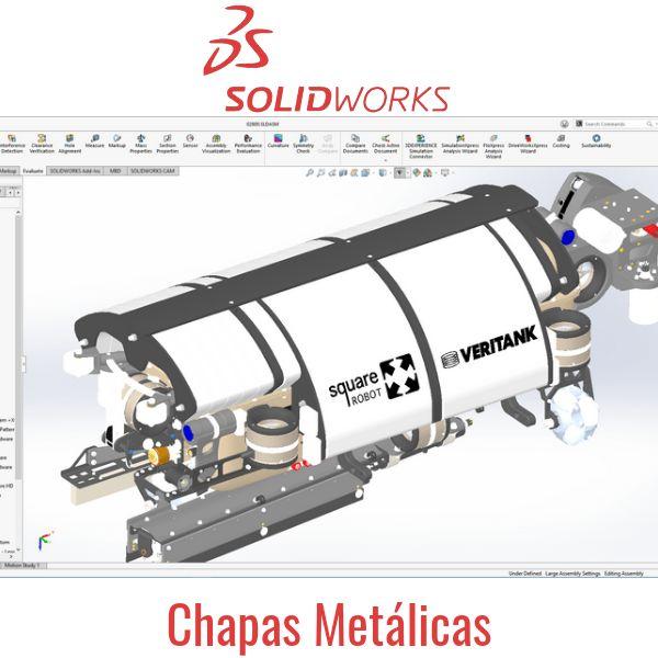 Imagem principal do produto CURSO SOLIDWORKS CHAPAS METÁLICAS