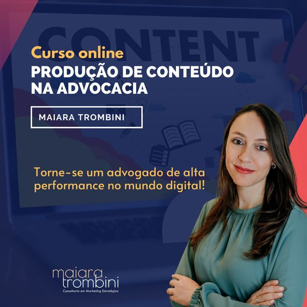Imagem principal do produto CURSO ONLINE- PRODUÇÃO DE CONTEÚDO NA ADVOCACIA