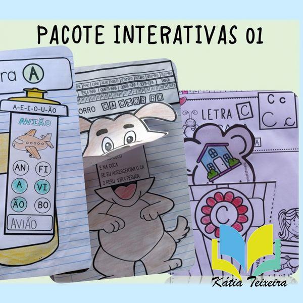 Imagem principal do produto Atividades de alfabetização: Pacote de atividades interativas 01