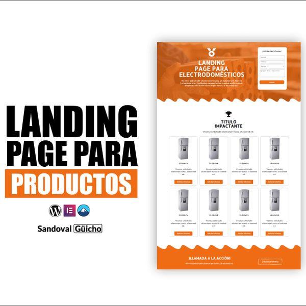 Imagem principal do produto 6-. 👉 Landing Page para Múltiples Productos - Compatibles para WordPress y Elementor.