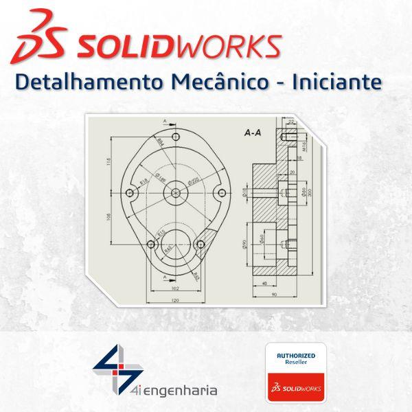 Imagem principal do produto Curso SOLIDWORKS Detalhamento Mecânico (Iniciante)