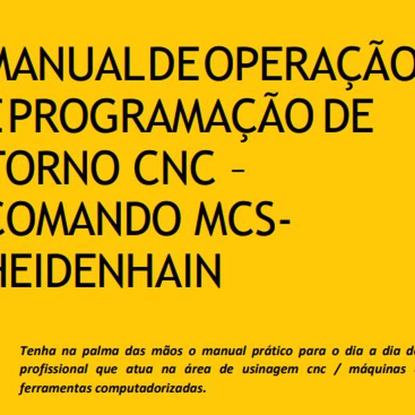 Imagem principal do produto Manual de Usinagem CNC - MCS Heidenhain