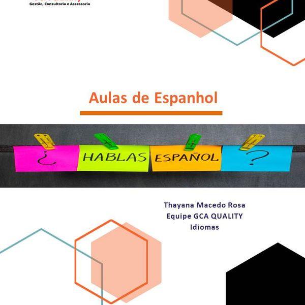 Imagem principal do produto Aulas de Espanhol