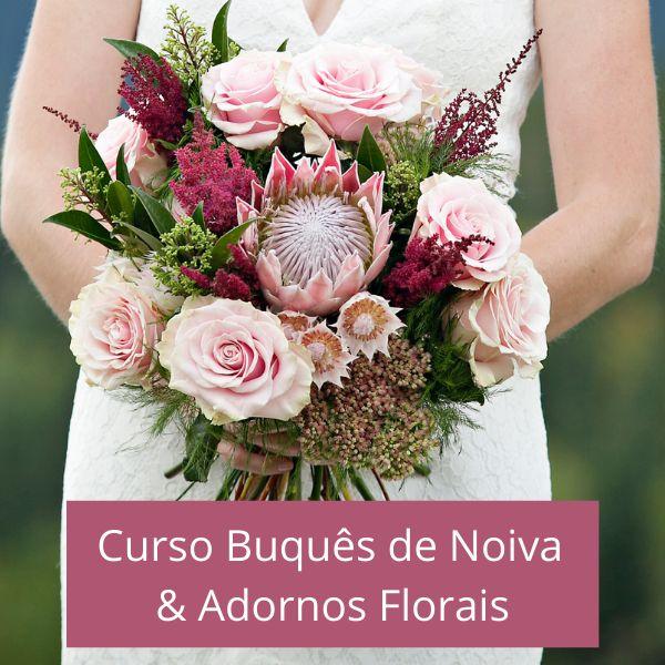 Imagem principal do produto Curso Buquês de Noiva e Adornos Florais