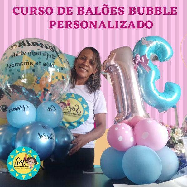 Imagem principal do produto Curso de Balões Bubble Personalizado
