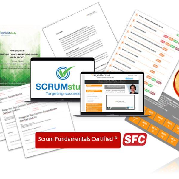 Imagem principal do produto Curso Online con Acceso Total al Material de: Scrum Master Certified (SMC®), Scrum Developer Certified (SDC®) & Scrum Product Owner (SPOC®)   SCRUMstudy™ con Certificación Scrum Fundamentals Certified (SFC™) GRATIS.